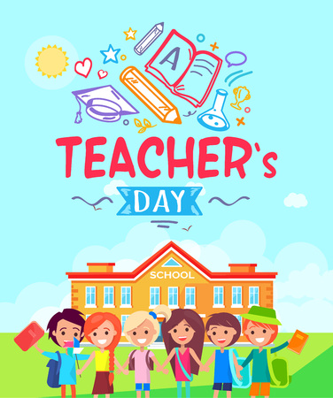 Teachers Day Promotional Vector Illustration Ilustração