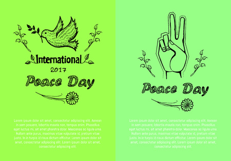 International Peace Day Poster Vector Illustration Reklamní fotografie - 90321110