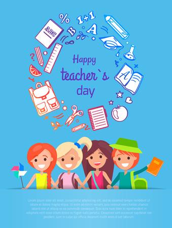 Happy Teacher s Day Vector Illustration