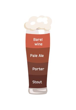 Barrel Wine and Pale Ale Vector Illustrartion.