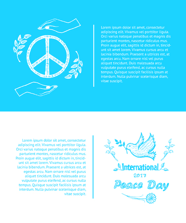 Set of Posters for International Peace Day Vector