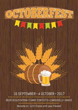 Oktoberfest Promotional Poster Vector Illustration