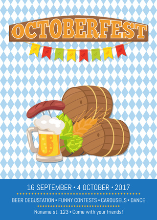 Beer Degustation 2017 on Vector Illustration Card