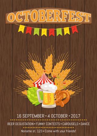 Octoberfest Oktoberfest Promotional Poster Vector
