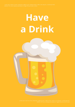 Have a Drink Picture Shown on Vector Illustration
