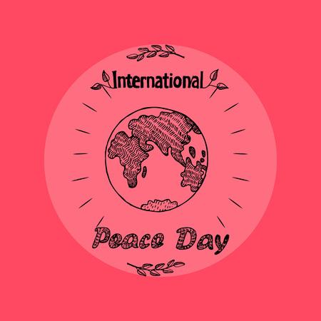 Internationale dag van de vrede op vectorillustratie