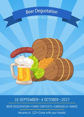 Beer Degustation 2017 on Vector Illustration. Illustration
