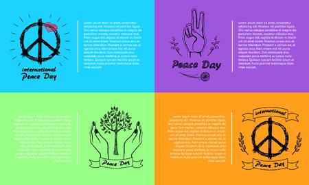 International Peace Day Vector Illustration 4 Pics Illustration