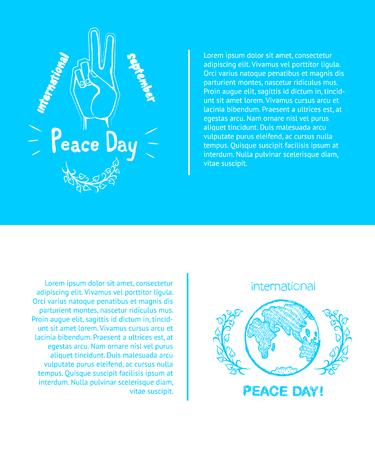 International Peace Day Poster Vector Illustration Illustration