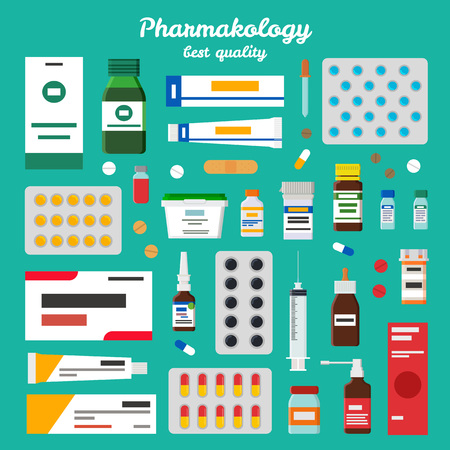 Pharmacology Best Quality Vector Illustration Illustration