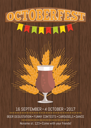 Octoberfest Promotional Poster with Beer Glass
