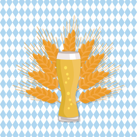 Glass of beer vector illustration