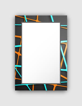 Frame with dark pattern vector