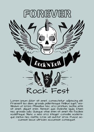 Rock n Roll Fest Forever Vector Illustration Illustration