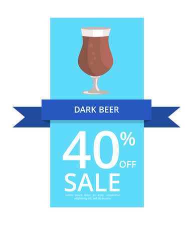 Dark Beer 40 Off Sale on Vector Illustration