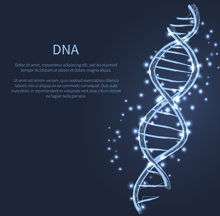 DNA Code Structure Icon Vector Illustration Vector Ilustração