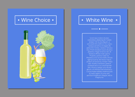 White Wine Choice with Text Vector Illustration