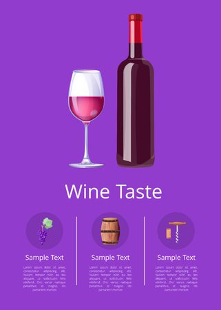Wine Taste with Text Sample Vector Illustration