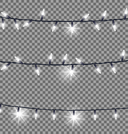 Strings of Glowing Christmas Lights Illustration