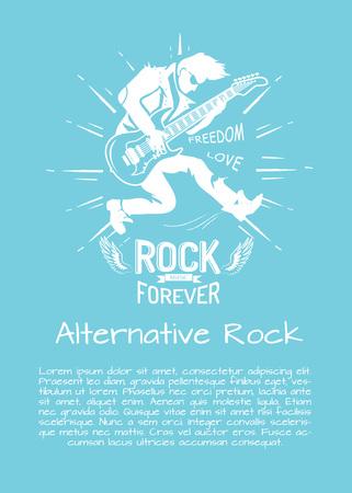 Alternative Rock Music Forever Vector Illustration