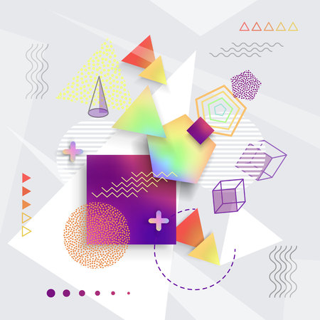 Various Geometric Shapes Set of Illustrations