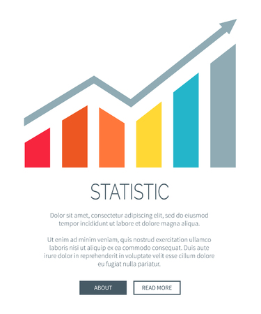Statistic and Growing Diagram Vector Illustration