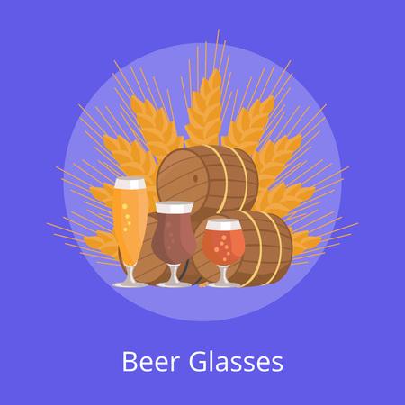 Beer Glasses Vector Illustration