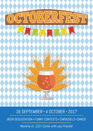 Octoberfesr Informative Poster with Snifter Gass