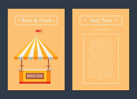 Fest-tent met bier- en voedselcollectie posters