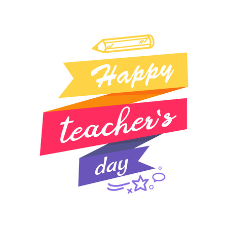Happy Teacher s Day Icon Vector illustration Illustration