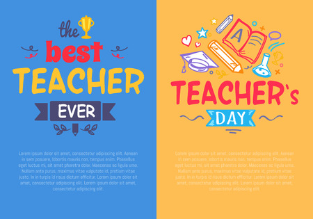 Set of posters for Teacher s Day Set of Posters