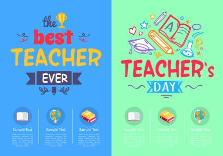 Best Teacher Ever Award on Vector Illustration