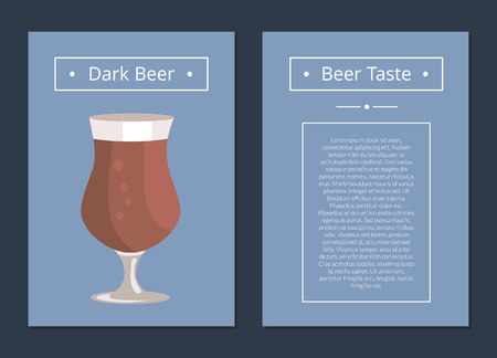 Poster with glass of dark beer.