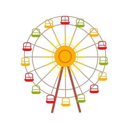 カラフルなカーニバルに乗るの図。  イラスト・ベクター素材