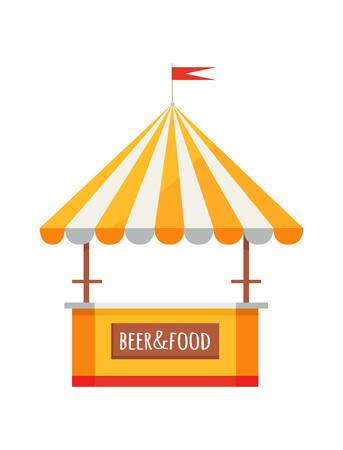 Bier und Essen Menü Zelt Illustration Standard-Bild - 90943693