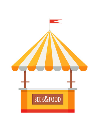 Beer and Food Festival Tent Illustration.