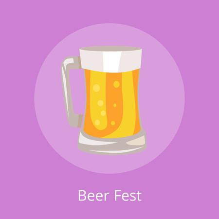 Beer Fest Icon of Light Beverage Mug Illustration Illusztráció