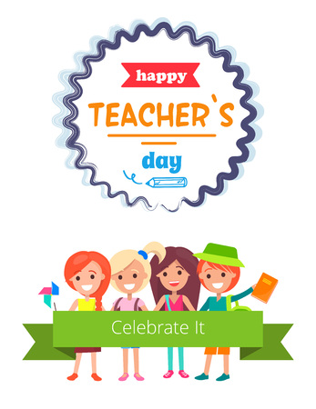 Happy Teacher s Day banner design.