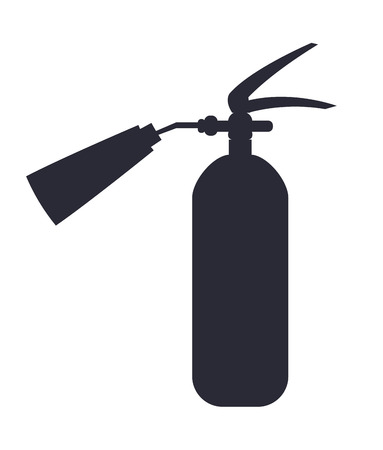 Carbon Dioxide Extinguisher Isolated Illustration