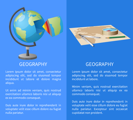 Equipment for Geographical Researches Illustration Ilustrace