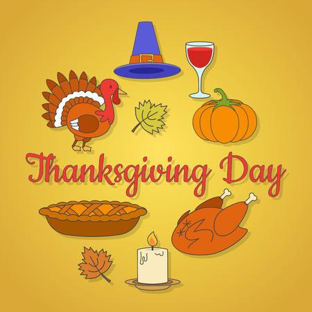 Thanksgiving dayconcept met vakantiesymbolen