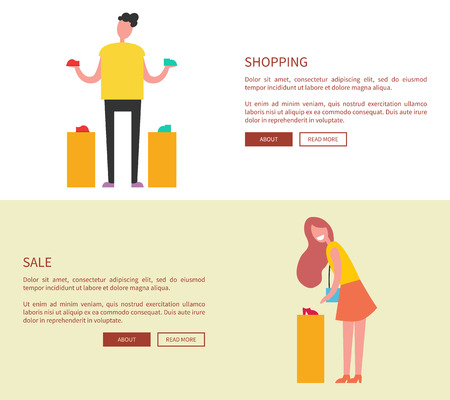 Designed Pages Shopping on Vector Illustration