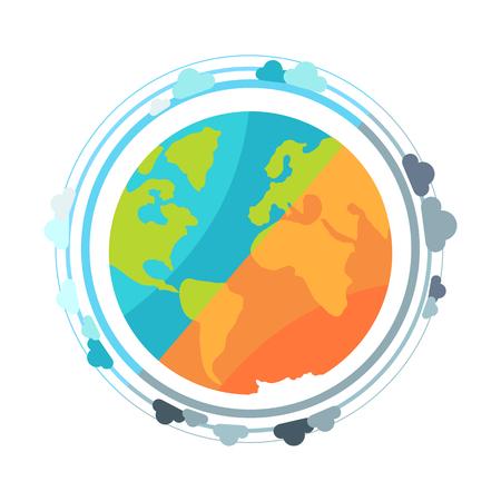 지구의 행성 지구본 아이콘 벡터 일러스트 레이션 일러스트
