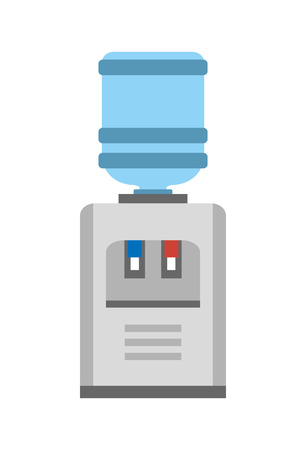 Watercooler Image Vector Illustration on White