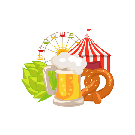 Closeup White Vector Illustration of Beer Food Imagens - 90490493