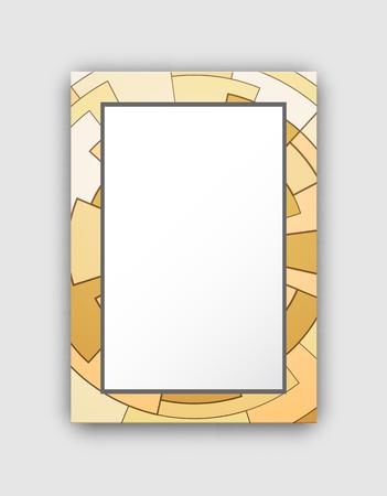 Light Frame Circled Pattern Vector Illustration Illustration