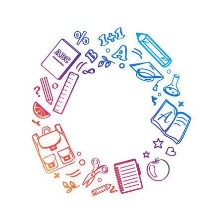 Circle Made of Icons Vector Illustration Illusztráció