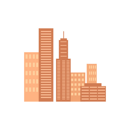 Icons of Several Skyscrapers Vector Illustration Illustration