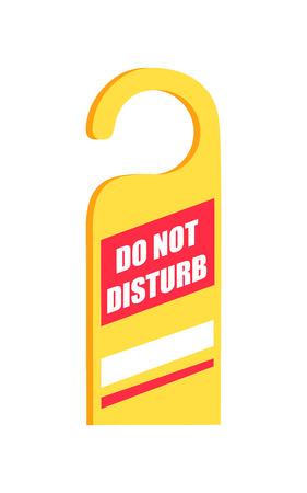 Do Not Disturb Sign Icon Vector Illustration