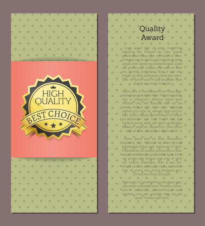 High Quality Award Best Choice Vector Banner Text Illustration